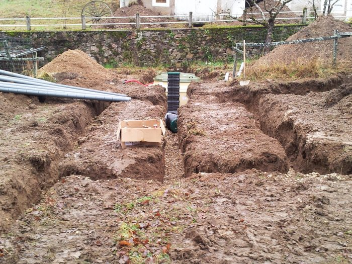septic tank installation and groundworks