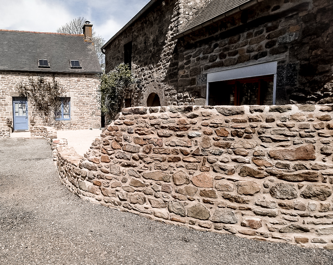 repointing an old stone property in Brittany